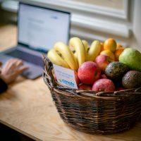 fruktkorg på jobbet